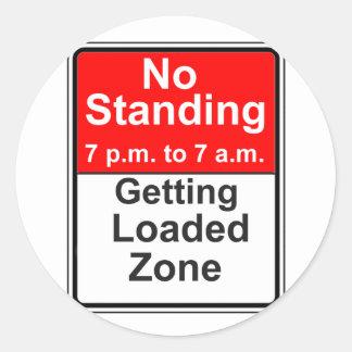 Getting Loaded Zone Classic Round Sticker