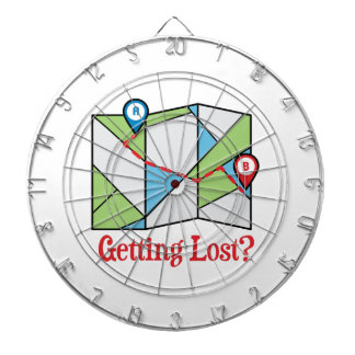 Getting Lost? Dartboard With Darts