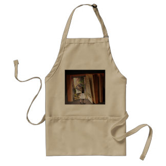 Getting Lost in imagination while reading book Adult Apron