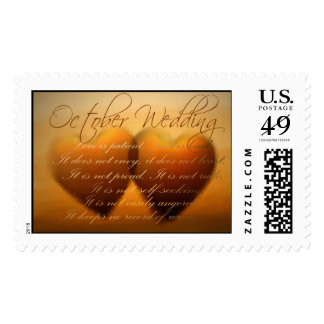 Getting married in October? Postage