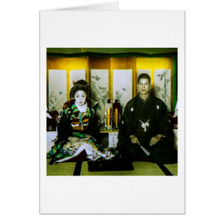 Getting Married in Old Japan The Happy Couple Card
