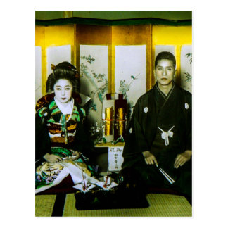 Getting Married in Old Japan The Happy Couple Postcard