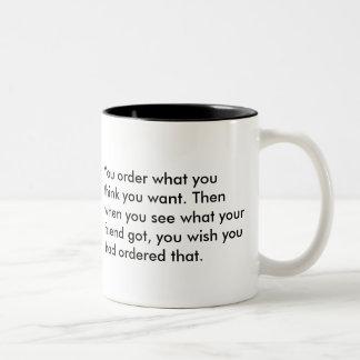 Getting married is like.... Two-Tone coffee mug