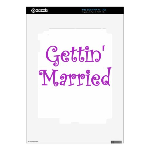 Getting Married Decal For iPad 2
