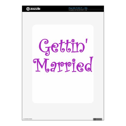 Getting Married Decals For The iPad