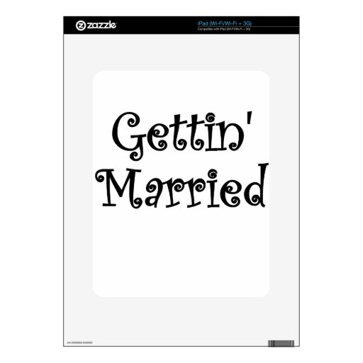 Getting Married Skins For The iPad