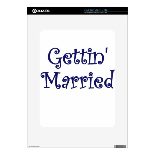 Getting Married Decal For iPad