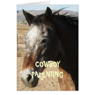 Getting Older and Wiser - Cowboy Parenting Card