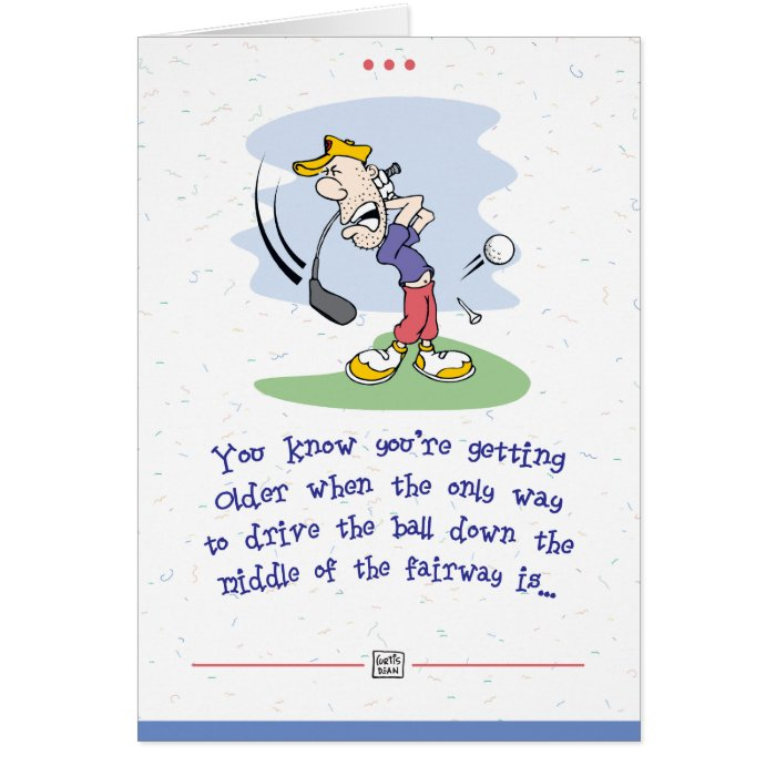Cards Note And Funny Golf Birthday Greeting Card Templates