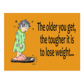 Getting Older Funny Humor Postcard Kerra Lindsey