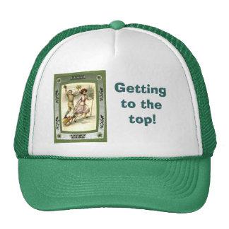 Getting on top trucker hat
