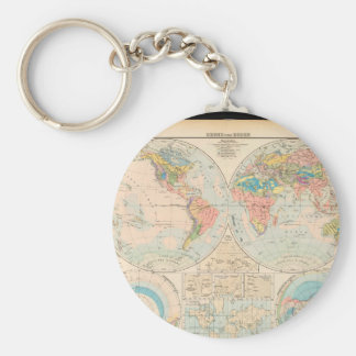 Getting ons World Map 21 Keychain