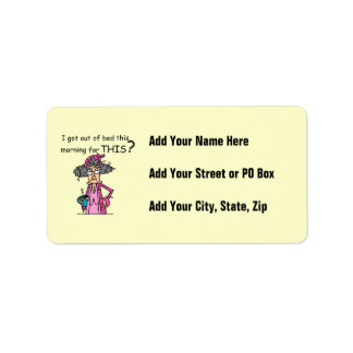 Getting Out of Bed Humor Address Label