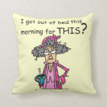 Getting Out of Bed Humor Pillow