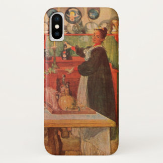 Getting Ready for a Game of Cards by Carl Larsson iPhone X Case