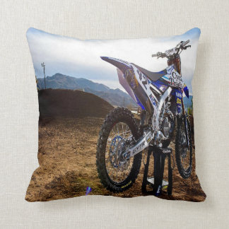 Getting Ready to Ride Throw Pillow