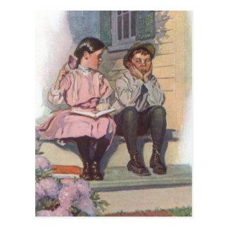 Getting Schooled Postcard