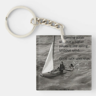 Getting sober without a Higher power... Single-Sided Square Acrylic Keychain