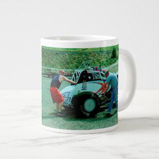 Getting the car ready giant coffee mug
