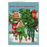 Getting The Christmas Tree Christmas Card