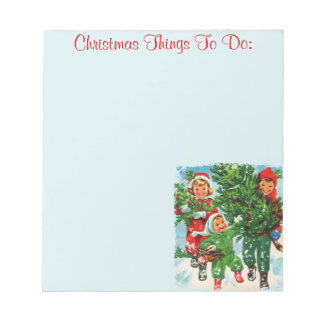 Getting The Christmas Tree Notepad