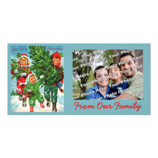 Getting The Christmas Tree Photo Card