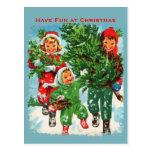Getting The Christmas Tree Postcard