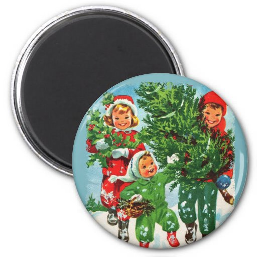 Getting The Christmas Tree Round Magnet