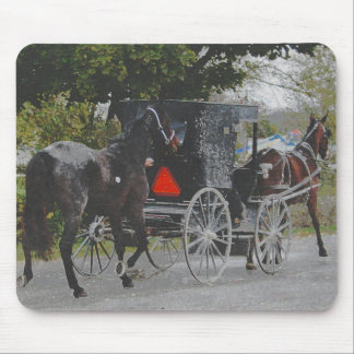Getting the New Horse Home The Amish Way Mouse Pad