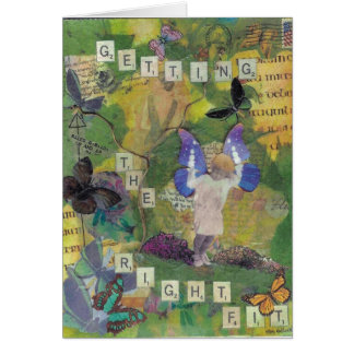 Getting the Right Fit Notecard Greeting Card