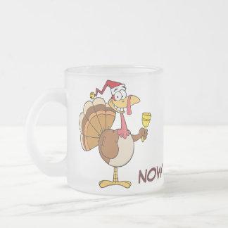 Getting Through the Holiday Season to Christmas Frosted Glass Coffee Mug