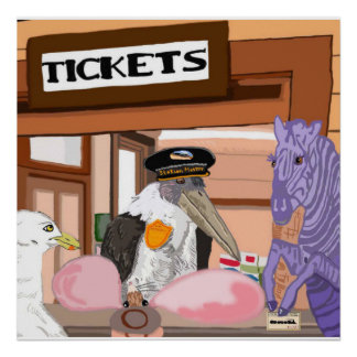 Getting Tickets For The Train Poster