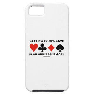 Getting To 50% Game Is An Admirable Goal iPhone 5 Case