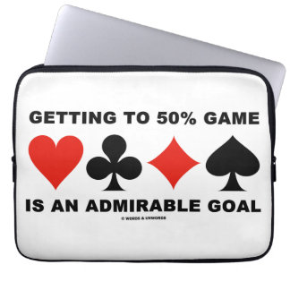 Getting To 50% Game Is An Admirable Goal Laptop Sleeve