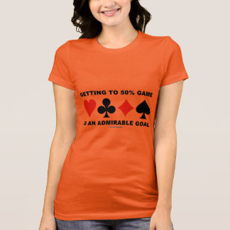 Getting To 50% Game Is An Admirable Goal T-Shirt