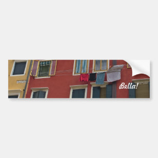 Getting to Know You Scenic Charm of Italy Car Bumper Sticker