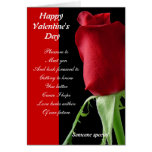 Getting to know you valentines greeting card