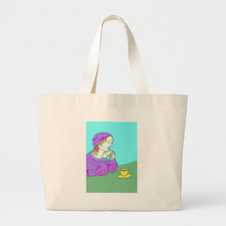 Getting Together Large Tote Bag