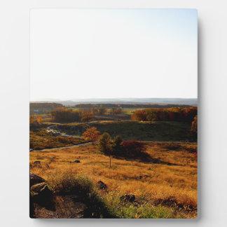 Gettsburg Sunset Plaque