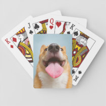 Getty Images | Very Happy Corgi Playing Cards