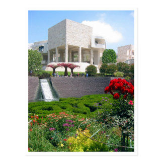 getty museum gardens postcard