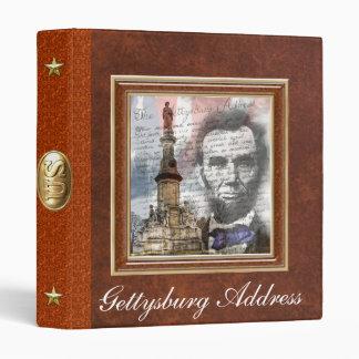 "Gettysburg Address  1"" 3 Ring Binder"