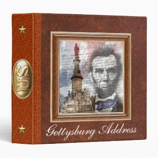 "Gettysburg Address  1.5"" 3 Ring Binder"