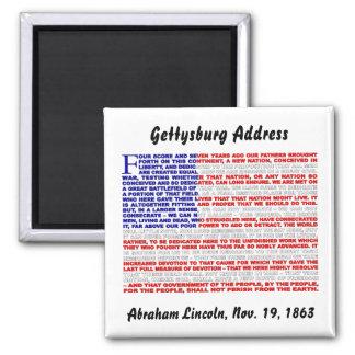 Gettysburg Address 2 Inch Square Magnet