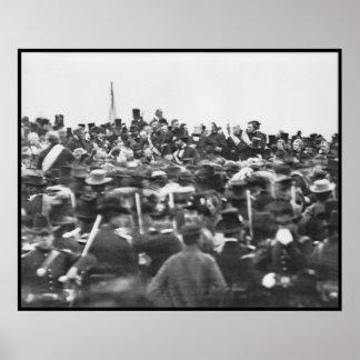 Gettysburg Address, Abraham Lincoln Poster