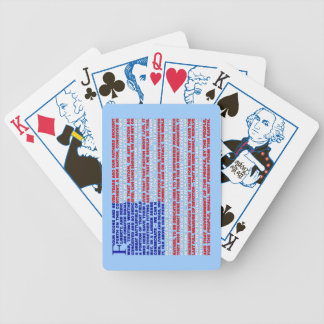 Gettysburg Address Bicycle Playing Cards
