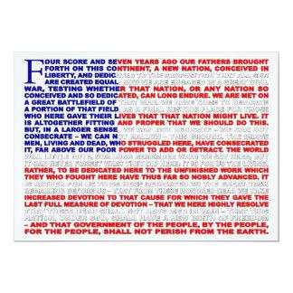 Gettysburg Address Invite