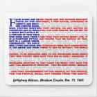 Gettysburg Address Mouse Pad