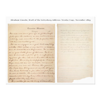 Gettysburg Address Nicolay Copy (1863) Stretched Canvas Prints