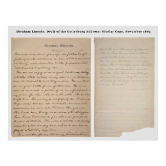 Gettysburg Address Nicolay Copy (1863) Poster